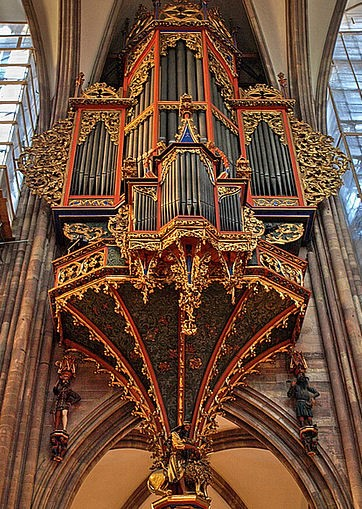 organ case at strasbourg cathedral