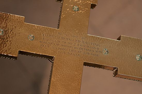 detail of processional cross