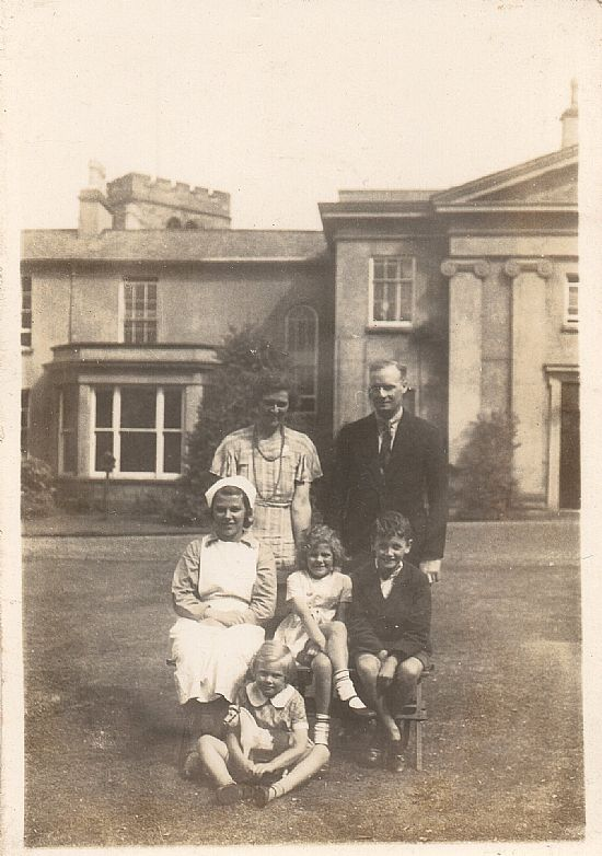 the robinson family, outside the old rectory
