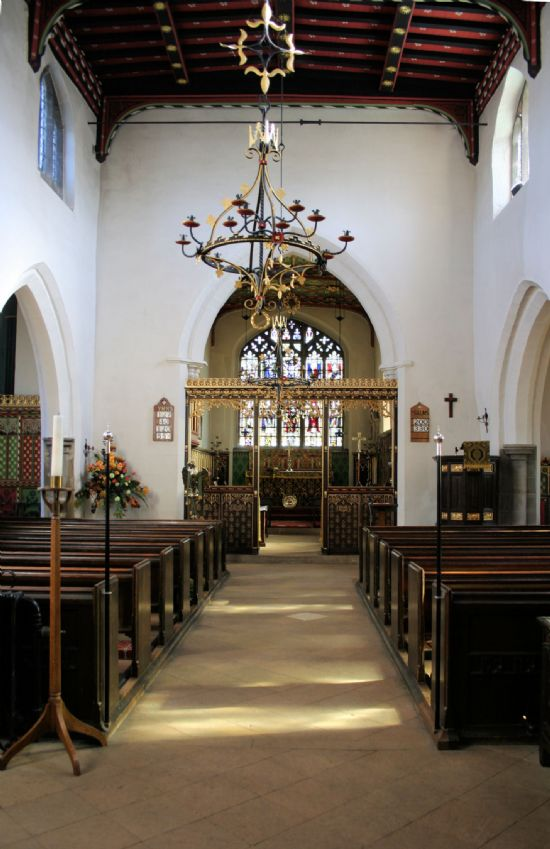 plumtree church - interior