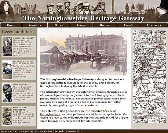 nottinghamshire heritage gateway