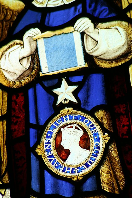 star of india depicted in the window dedicated to henry hopkinson
