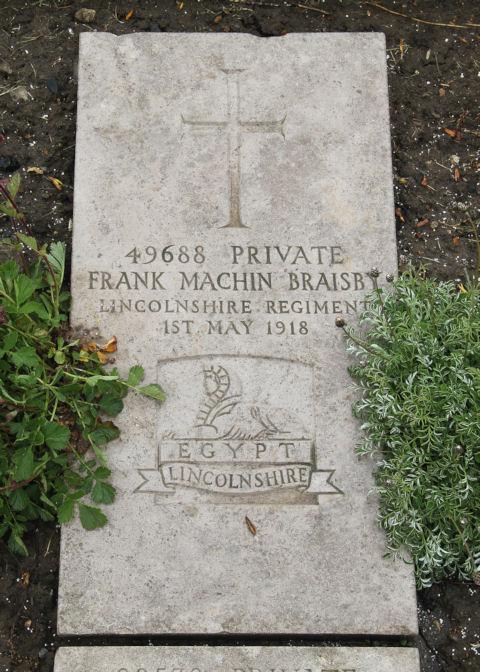 frank braisby - gravestone