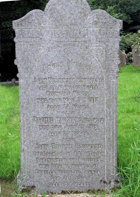 john thorpe hayward - memorial