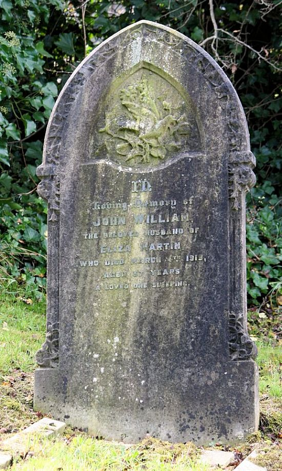 john william martin - gravestone