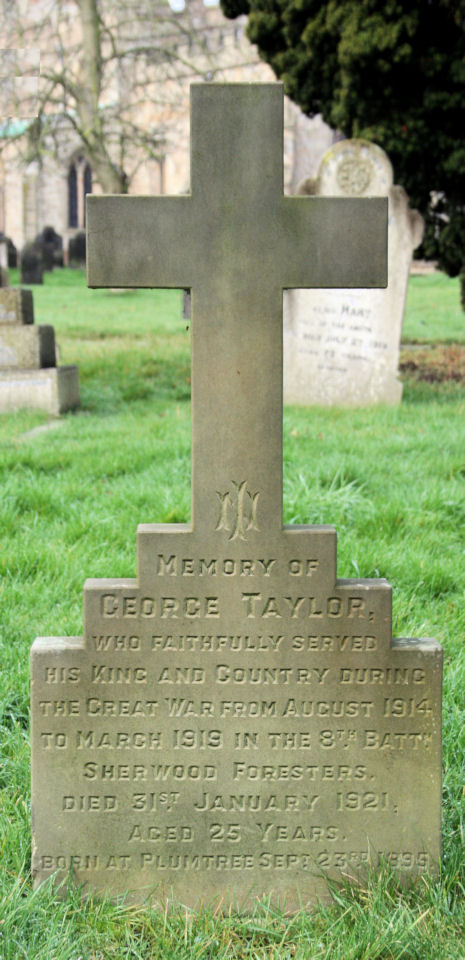 george taylor's headstone