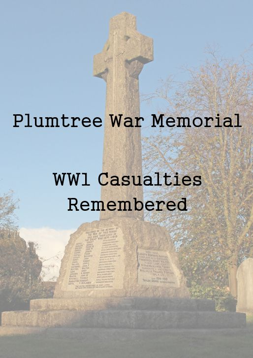 thumbnail of title page for plumtree war memorial - ww1 casualties remembered