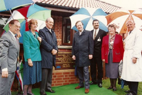 opening ceremony for raynor's cottages