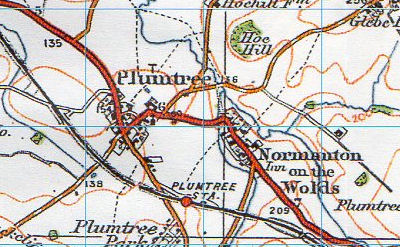 old map showing plumtree