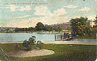 Pond in Whiteinch Park, Glasgow