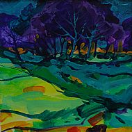 Edge of the Wood, Evening. Sold