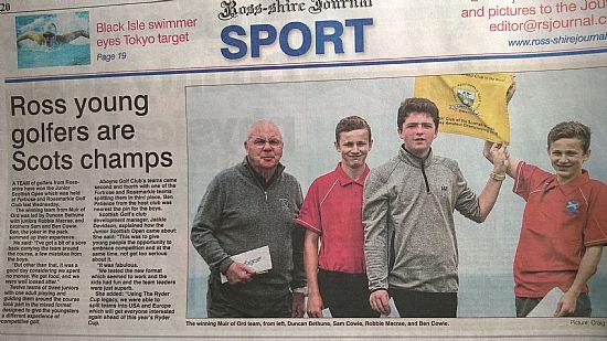 scottish junior open winners