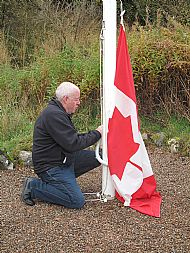 Lowering of the Canadian flag, Rogart 17th October 2015