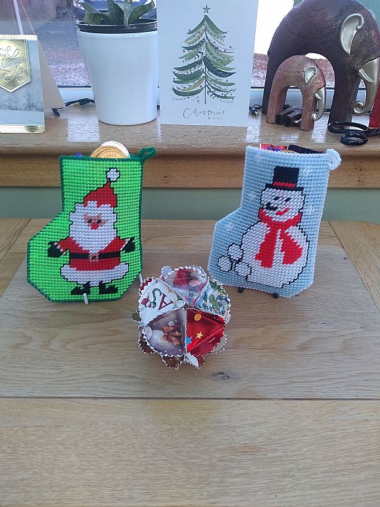 stockings and bauble