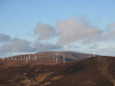 wind turbines in easter ross.