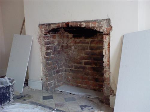 1 - start of old fire place
