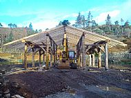 Asssynt Foundation Log Barn Frame