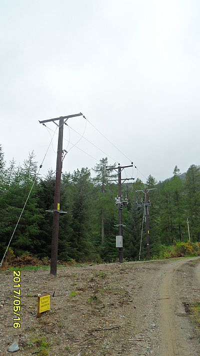 pylons taking power to main grid.