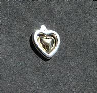 Silver and Gold hearts Pendant