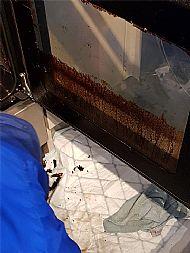 Oven Door Part Cleaned