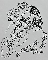 Clergy in a Meeting