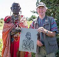 With Maasai Lady