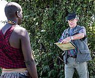 Portrait-Sketching of Masai in Kenya