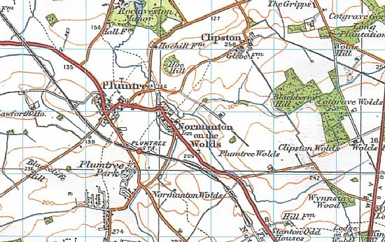 old map of normanton