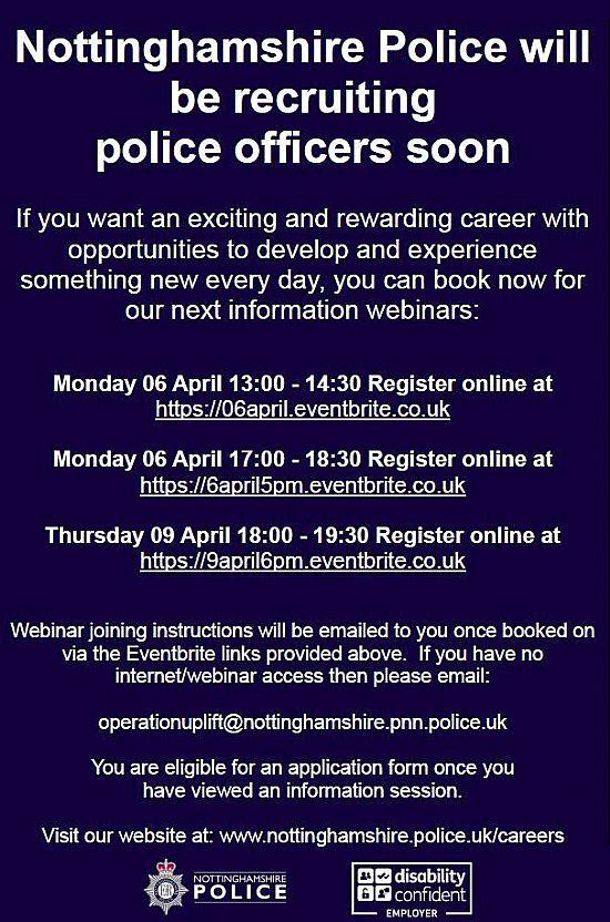 nottinghamshire police recruitment poster