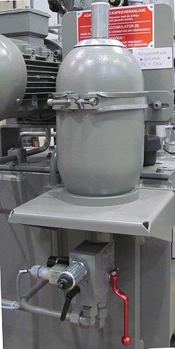 image of hydro-pneumatic accumulator