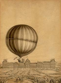contemporary illustration of jacques charles flight