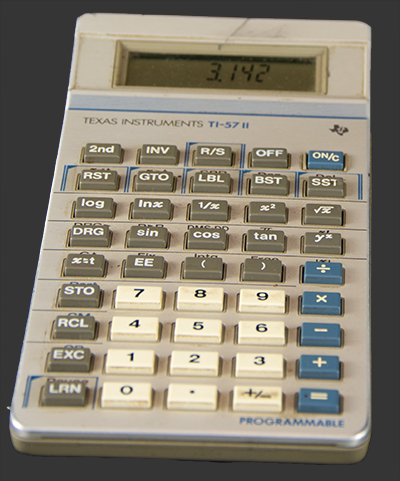a texas instruments ti - 57 ii programmable calculator