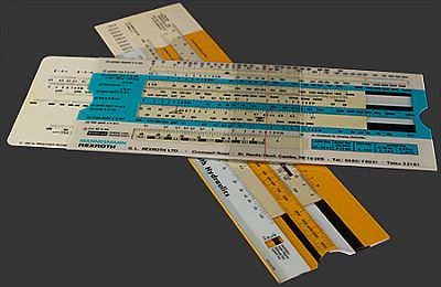 plastic slide rules for calculating hydraulic formulae