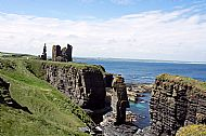Seastacks and Ruined Castle