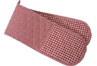 RED CHECK OVEN GLOVES