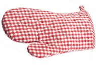RED CHECK OVEN MITT