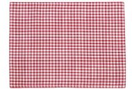 SET OF FOUR RED CHECK PLACEMATS