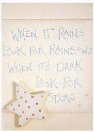 WOODEN PLAQUE - WHEN IT RAINS
