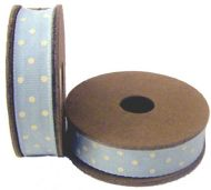 EAST OF INDIA BLUE DOT RIBBON