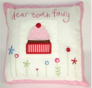 GISELA GRAHAM TOOTH FAIRY CUSHION - TEA PARTY