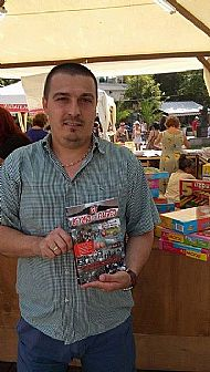 author-gilly-black-holding-jrf-bth-book at book market in varna