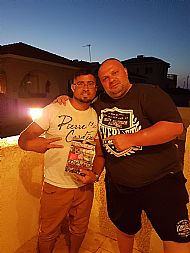 Tosh & Dian Manolo from G.O Boys with the book in Cyprus