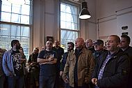The lads audience while publisher speech at the presentation of our book in London