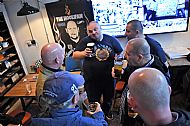 Pints  with the English lads (Leeds,Arsenal,Chelsea & Watford) while our book presentation in London