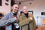 A great moment- Tish & Steve Hobley (Leeds & Hertford)- terrace legend at the book premiere