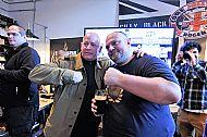 A great moment- Tosh & Steve Hobley (Leeds & Hertford)- terrace legend at the book premiere