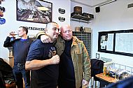 A great moment- Gilly _ Steve Hobley (Leeds _ Hertford)- terrace legend at the book premiere