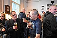 Gilly talks with Ronnie Sharpe (author of Sharpe as a Blade 1&2- Sheffield Utd.) at Beyond the Hatred launch
