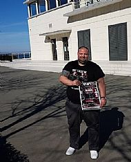 author-tosh-mcintosh-with-tfbg-book-poster at seaside casino bourgas
