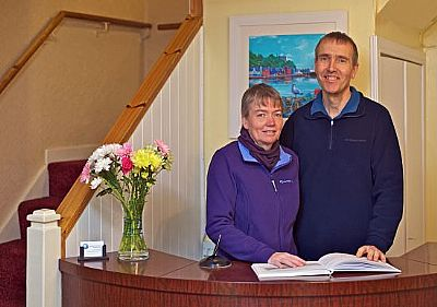 li and richard airey, harbour guesthouse, tobermory, mull